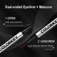 Colorkey Double-headed Eyeliner Mascara Small Silver Tube 2 In 1 ( Mascara 1.5ml + Eyeliner 0.4ml)