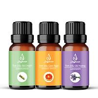 Combo 3 tinh dầu thiên nhiên nguyên chất: Tinh dầu Sả Chanh - Tinh dầu Oải Hương - Tinh dầu Cam Ngọt 10ml/chai JULYHOUSE