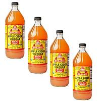 Giấm táo hữu cơ Organic Bragg 946ml Organic Apple Cider Vinegar 946ml (combo 4 chai)