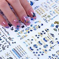 Bộ 10 tấm decal 3d trang trí móng tay siêu đẹp Justlove M-011