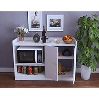 Tủ bếp 2 cánh, tủ lò vi sóng kết hợp kệ đựng gia vị bằng gỗ GP39
