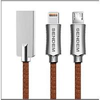 Cáp sạc nhanh Micro USB Sendem T6 - ( Dài 1m ) - Hàng Chính Hãng