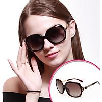 Kính râm phân cực chống lóa UV400 MEGASOL (Thiết kế Dior điểm ánh vàng MS246 )_nâu(brown)