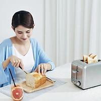 Máy làm bánh mì điện Xiaomi Deerma Máy nướng bánh mì bằng thép không gỉ 6 Nướng Rã đông Làm nóng Bữa sáng H30