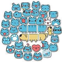 Set 60 Sticker Mèo Capoo ảnh decal hình dán ép lụa