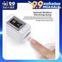 Máy đo huyết áp dạng kẹp ngón tay hỗ trợ đo nồng độ oxi trong máu, nhịp tim thông minh hiển thị màn hình LED cao cấp