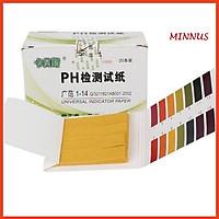 Giấy Quỳ Tím Thử Độ pH Thang Đo Từ 1 Đến 14 - 80 miếng kèm bảng màu