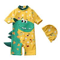 Đồ Bơi Trẻ Em SPF50 + Tặng 1 Bộ Áo Tắm Cho Trẻ Em Bé Trai Khủng Long Bé Quần Bơi Bé Trai Có Nón Bể Lướt mặc Đi Biển