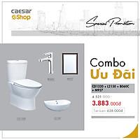 Combo sản phẩm bàn cầu+lavabo+ vòi lavabo lạnh+gương - CD1320+L2150+B060C+M927