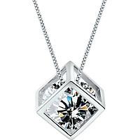 Dây Chuyền Khối Bảo Ngọc Aries Showfay Jewelry TN0042 - Bạc