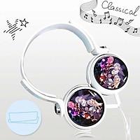Tai nghe Honkai Impact anime chibi thiết kế thông minh cá tính cắm dây có mic