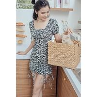 Đầm đen hoa nhí dây rút Jou Jou Dress Gem Clothing SP060298