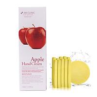 Kem dưỡng da tay chiết xuất Táo Hàn Quốc cao cấp 3W Clinic Apple Hand Cream (100ml) + Tặng Bông Bọt Biển Massage Mặt Cao Cấp Hàn Quốc Mira (6 miếng/bịch) – Hàng Chính Hãng