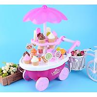 Đồ chơi lắp ráp, xếp hình xe đẩy bán kem