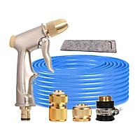 Bộ dây vòi xịt nước rửa xe, tưới cây đa năng, tăng áp 3 lần, loại 7m, 10m 206701-1 đầu đồng,cút đồng+ tặng túi đựng bút