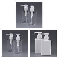 6 Pieces 150ml PET Empty Pump Bottles Dispenser for Essence Foam Emulsion
