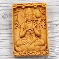 Mặt Phật Gỗ Hoàng Đàn - Đại Thế Chí Bồ Tát MG18