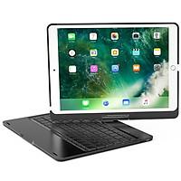 Bàn phím Bluetooth cao cấp F360 xoay 360 độ cho iPad Pro 10.5 inch/ Air 3 - Bàn phím led 7 màu