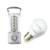 Combo Đèn lồng LED sạc Nanolight LL-003 và Bóng đèn LED 7W Nanolight