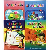Combo Bé Học Vần, Bé Học Toán và Bé Tập Tô Chữ Cái, Bé Tập Tô Chữ Số (tặng kèm 1 tờ 36 hình dán ngôi sao)
