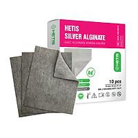 Gạc chăm sóc vết thương Alginate tẩm bạc kháng khuẩn HETIS SILVER ALGINATE - Dùng cho vết thương có nguy cơ nhiễm trùng