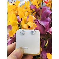 Hoa tai đích đẩy hình vương miện một hột đính viên kim cương nhân tạo bạc Ý cao cấp - SHT101