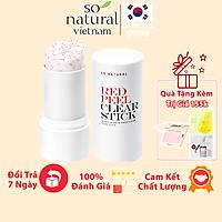Red Peel Clear Stick Chính Hãng So Natural Pore Blackhead & Face Thanh Lăn Mụn Đầu Đen 23gram