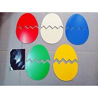 BỘ TRỨNG ALU (1 bộ gồm 5 trứng khác màu, kèm nam châm lá)