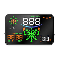 Car Universal Navigation Version HUD 5.5''HD Screen Head Up Display GPS System Support OverSpeed Warning Mileage