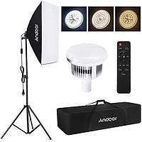 Andoer Studio Photography Light kit Softbox Lighting Set with 85W 2800K-5700K Bi-color Temperature LED Light * 1 +