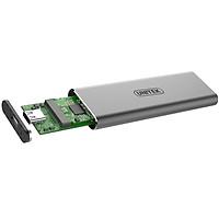 Box ổ cứng SSD M2 NVMe Unitek S1201A chuẩn 3.1 hỗ trợ đến 5Gbps (Xám) Hàng Chính Hãng