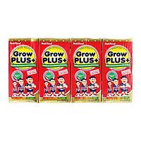 Sữa Bột Pha Sẵn GrowPlus+ Đỏ NutiFood Lốc 4 hộp x 180ml Suy Dinh Dưỡng Cho Trẻ Trên 1 Tuổi - NutiFood Grow Plus Đỏ - Hàng Chính Hãng