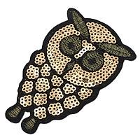 6pcs Owl Applique Sequin Sew on Clothes DIY Embroidery Paillette Patch