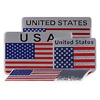 Set 4 Miếng Sticker Metal Cờ Mỹ