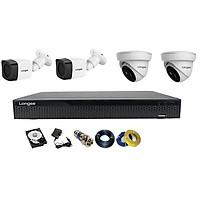 Camera Longse TVI 2.0MP 1080p bộ 4 mắt (Nhựa) - Hàng chính hãng