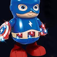 Avengers Action Figure Dancing Hero Captain America Robot Music with Light