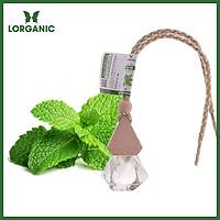 Tinh dầu bạc hà Lorganic treo xe hơi, tủ áo (10ml) / Tinh dầu thiên nhiên nguyên chất/ Hương thơm the mát, sảng khoái/ Giúp phấn chấn tinh thần, thư giãn cơ thể.