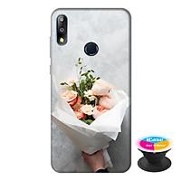 Ốp lưng điện thoại Asus Zenfone Max Pro M2 hình Bó Hoa Tình Yêu tặng kèm giá đỡ điện thoại iCase xinh xắn - Hàng chính hãng