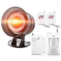 Báo động chống trộm cảm biến hồng ngoại phát hiện chuyển động thông minh cao cấp  (Tặng đèn pin bóp tay mini-màu ngẫu nhiên)