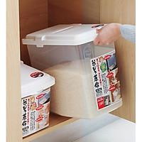 Thùng đựng gạo Inomata cao cấp 10kg kèm ca đong - Nội địa Nhật
