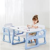 Bộ bàn ghế trẻ em, Có ngăn chứa đồ gồm: 1 bàn và 2 ghế