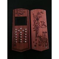 Vỏ gỗ cho điện thoại Nokia 1280 mẫu chữ Tâm