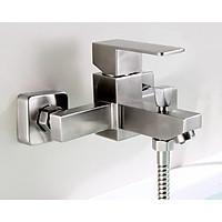 Cần điều khiển sen tắm 8 nóng lạnh kiểu vuông đẹp siêu cấp - SUS304