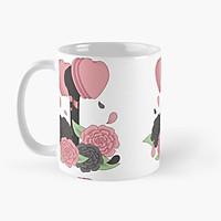 Ly cốc sứ in hình Lightstick BLACKPINK và hoa