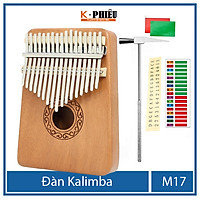 Đàn kalimba 17 phím chính hãng âm thanh tựa đàn piano đàn hạc không tịt nốt sử dụng bằng ngón tay cái tặng Hướng dẫn sử dụng TONIC KALIMBA -M21