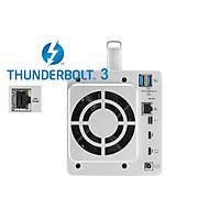 DAS TerraMaster TD2-Thunderbolt 3 PLUS, 40Gbps, 800MB/s, 8K video, 2 khay ổ cứng - Hàng chính hãng