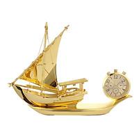 Nước hoa thuyền buồm thuận buồm xuôi gió tích hợp đồng hồ trang trí taplo ô tô, xe hơi, bàn làm việc HC885