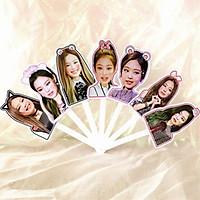 Quạt blackpink idoll Jennie dạng gấp