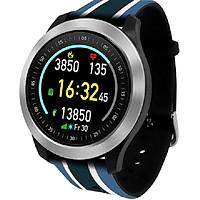 Đồng hồ thông minh đo nhịp tim cao cấp I-gotU Q-90 (Sọc Xanh Trắng) New - Hàng Chính Hãng