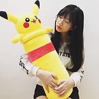 Gấu bông cao cấp Gối ôm Pikachu màu vàng ngộ nghĩnh